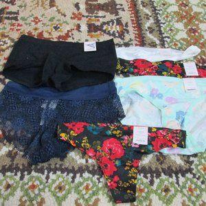 XS (0-2)Thongs & Panties NWT